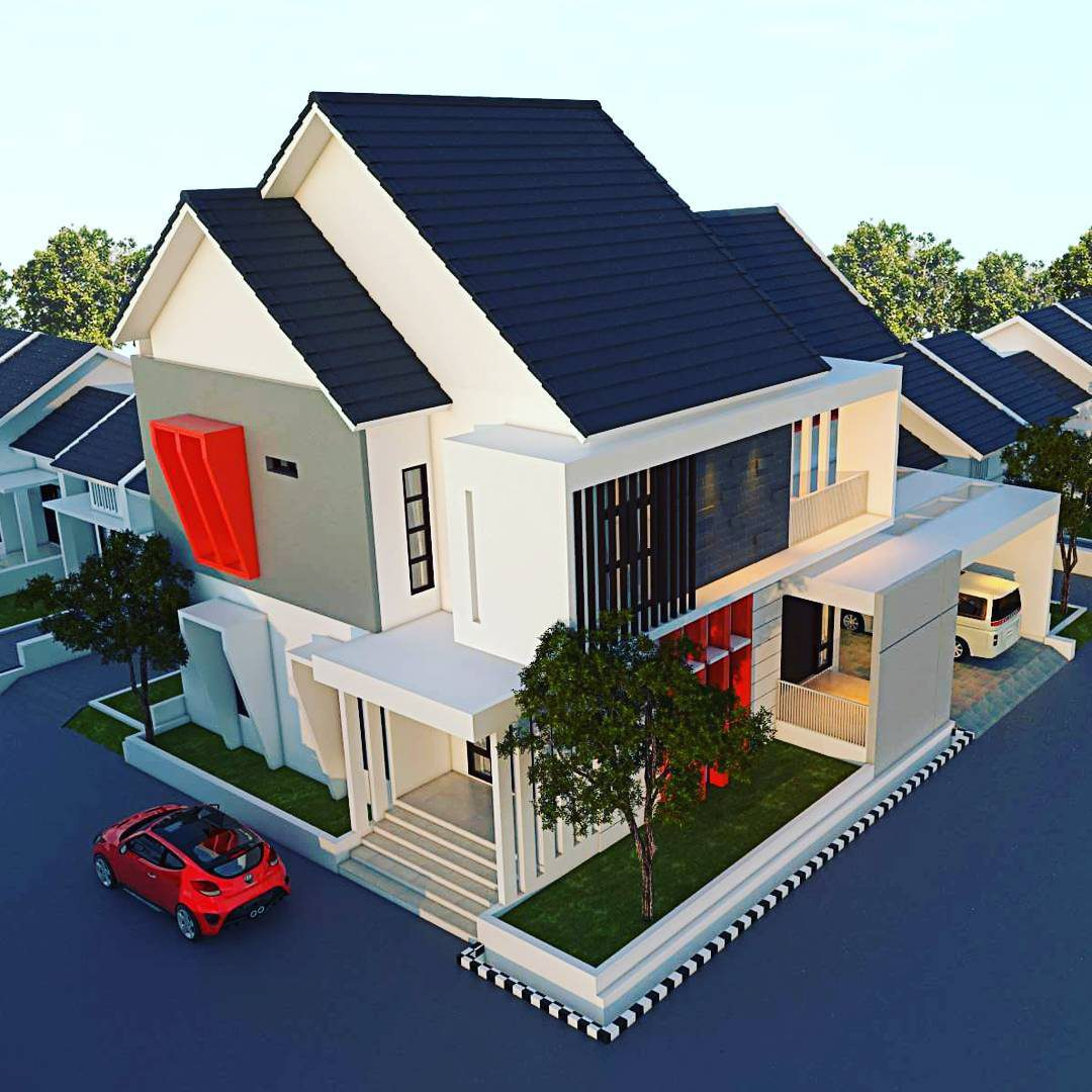 74 Koleksi Gambar Desain Atap Rumah Minimalis 2 Lantai Terbaru
